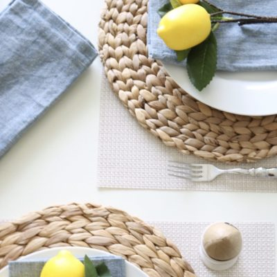 Creating a easy family table setting for all to enjoy!!!